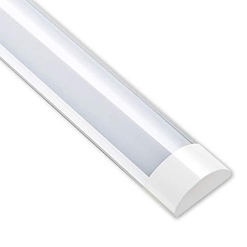 LED蛍光灯 ベースライト 一体型LEDライト 器具一体式 照明器具 40W形 超高輝度 工事不要 省エネ 簡単接続可能 天井直付 キッチンライト 学校用 照明 (1PCS昼白色, 120CM)