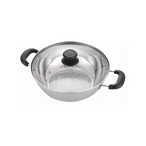 JiangKui Soup Pot Stew Pot Stock Pot Induction Safe Saucepan Casserole Casserole Pan with Glass Lid Cookware Stainless Steel Pot Pan Sets