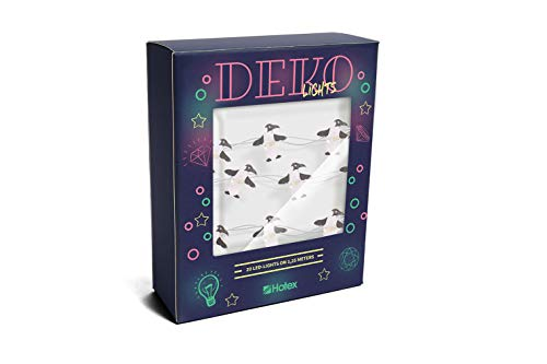 DEKOlights LED Lichterkette/Pinguin / 125cm lang ohne Batterien, für Innenbereich, 20 LED-Motive pro Lichterkette