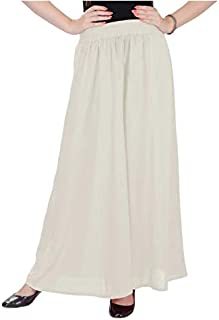 STYLE ICON Women's Flared Rayon Palazzo Trousers, plain colour with elastic waist - Multi colour