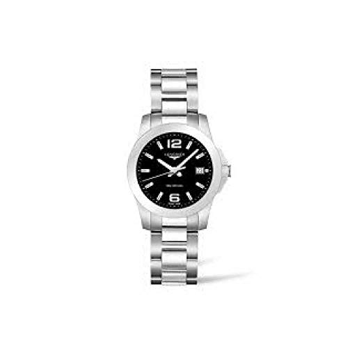 Longines orologio Conquest 34mm Nero Acciaio quarzo L3.377.4.58.6