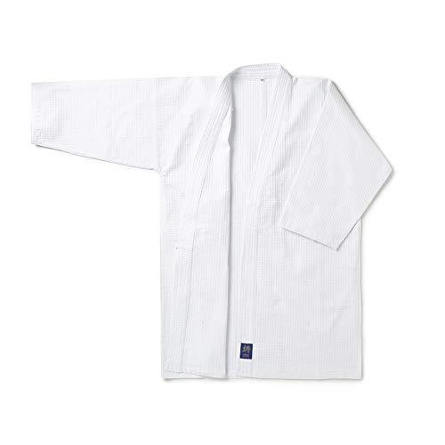 [鋳剣師] 剣道着 蜂巣織 ワッフル道着 剣道 道着 白 綿製 140cm