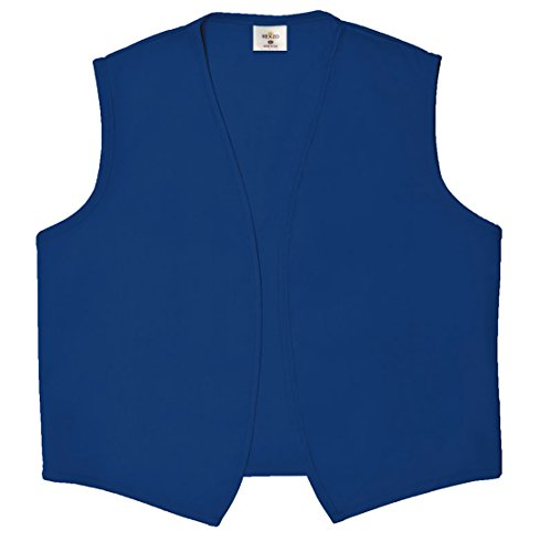 Unisex Vest No Pocket No Buttons– Made in The USA - Royal Blue, Large