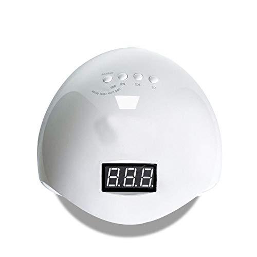 Lámpara de uñas UV de Shijian, secadora de 48W GEL LED Polish Curing Light con 4 temporizadores preestablecidos, sensores automáticos, pantalla LCD, bajo calor para manicura/pedicura, hogar y salón