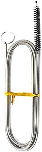 Cepillo de limpieza largo y flexible para frigorífico, cepillo de limpieza de bobinas de refrigerador, herramienta de dragado de orificios drenaje de nevera, eliminador de obstrucciones (1 unidad)