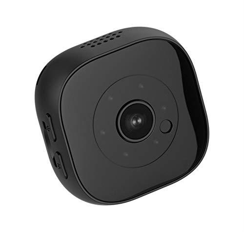 Lsmaa Mini cámara, Monitoreo de 120 Grados de ángulo Amplio Remoto multifunción aplicación es Compatible con Voz e Imagen Opciones de Calidad, adecuados for la detección de Movimiento botón de Alarma