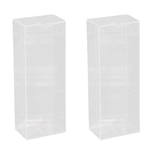 Hemoton - 25 scatole regalo in plastica trasparente, per bomboniere, feste, matrimoni