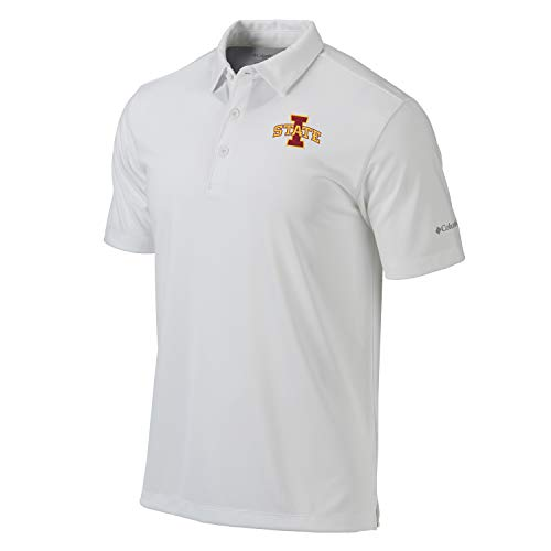 Columbia Omni-Wick NCAA Iowa State Drive Polo (Large) White