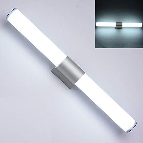 YYWJ LED-Spiegelleuchte Badezimmer-Waschtisch-Wandleuchte mit geschlossenem Lampenschirm Edelstahl + Acryl-Make-up-Schrank Beleuchtung Energiesparend Hohe helle LED-Leuchte Moderner Stil für Zuhause