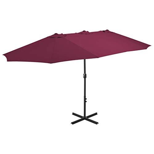 Festnight Parasol de Jardin Parasol d'extérieur Parasol en Aluminium pour Patio 460 x 270 cm Bordeaux