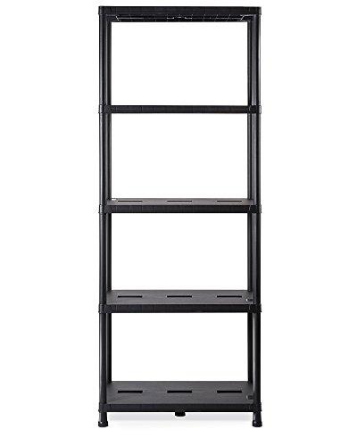 Ondis24 Regal, Lagerregal, 71 x 35 x 180 (H) cm, Steckregal, Kunststoffregal, 15 Zoll Schwerlastregal, bis zu 180 kg belastbar
