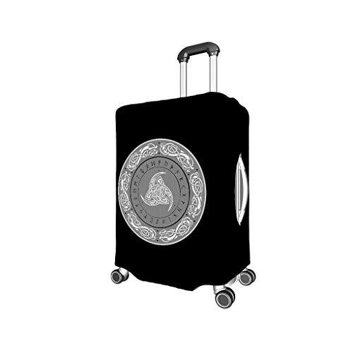 Funda elástica para maleta con símbolo nórdico de 18 a 28 pulgadas, con cremallera