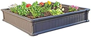 BLOSSOMZ Lifetime 4' x 4' Raised Garden Bed, Brown