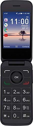 AT&T Prepaid - Alcatel SMARTFLIP, 4GB Memory, 2.8' Dual Display, Bluetooth, WiFi, Big Buttons - Black (Renewed)