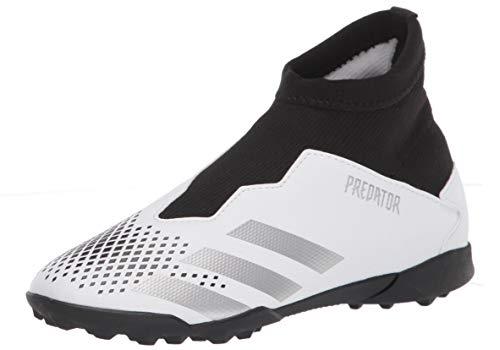 adidas Predator 20.3 Ii Turf Zapatilla de fútbol para niños, Blanco (Blanco/plateado/negro), 34 EU