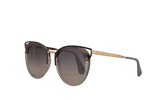 Prada PR66TS gafas de sol w/Grey Gradient 54mm lente MRU130 SPR66T PR 66TS SPR 66T mujer rayado gris Grande