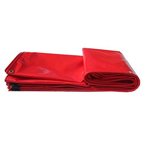 NAN Les couvertures Rouges Solides de Feuille de bâche imperméable Forte pour Camper, pêcher, Jardinage et Animaux familiers - Vient avec Le Stylo Anti-bactérien de TCH! (Taille : 4 * 4m)