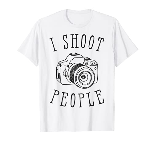 Disparo Personas Divertido Fotógrafo Fotografía Regalos Cámara Camiseta