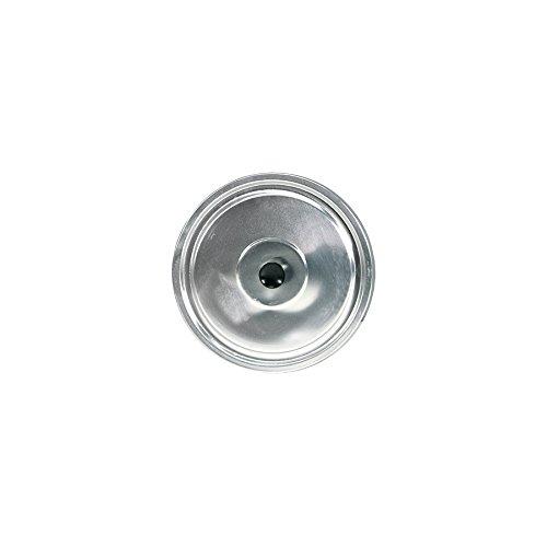 Home 0 Coperchio Piano per Caldaia, 44 cm, Alluminio, Grigio, 46x46x2.5 cm