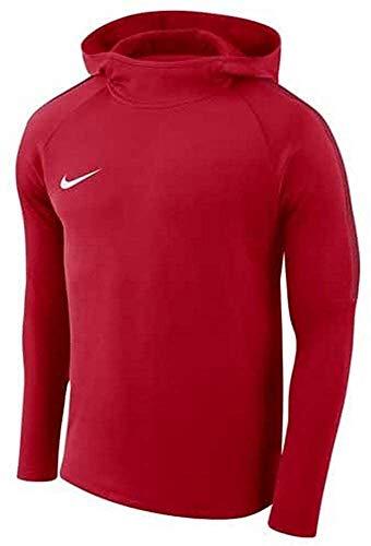 NIKE M NK Dry Acdmy18 Hoodie Po Sweatshirt, Hombre, University Red/ Gym Red/ Gym Red/ White, L