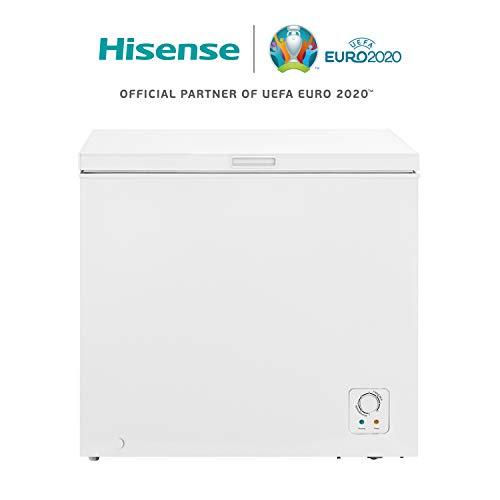 Hisense FT252D4HW1 - Arcón congelador horizontal, clase A+, cesta con asa, función dual convertible en modo frigorífico, 194 l capacidad neta, bajo nivel sonoro, color blanco