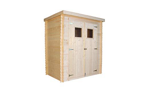 TIMBELA Holzhaus Gartenhaus M308 - Gartenschuppen Holz B184xL128xH202 cm/ 1.81 m2 Lagerschuppen für Garten - Fahrrad Schuppen - Wasserfestes Dach