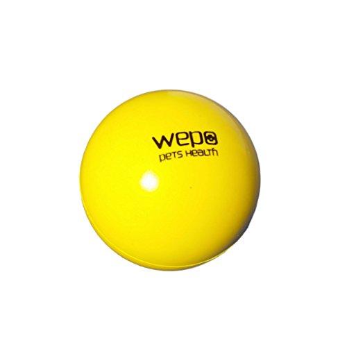 WEPO® Hundespielzeug/Hundeball - Kauspielzeug Zahnpflege-Funktion - Robuster Naturkautschuk Ball - Hundespiel-Ball - Welpenspielzeug - Gelb