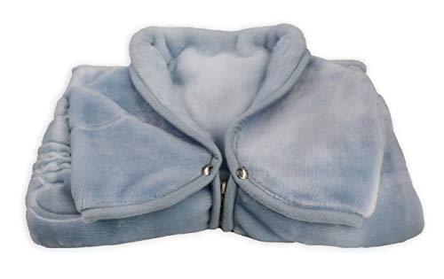Saco para Bebé, Manta Gofrada Recién Nacido 80x90 cm, BabySack para Dormir y Silla de Paseo, Cálida y Suave. (Azul)