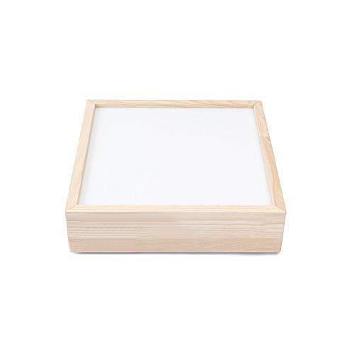 Mesas de luz Montessori led RGB Madera de castaño con certificación C.E.