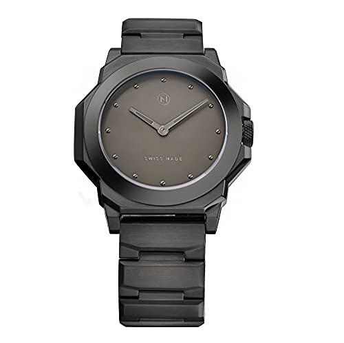 NOVE Rocketeer Swiss Made Quartz Luxury Watch Black Dial for Men and Women C007-07