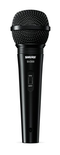 Shure JSH SV200WA - Micrófono dinámico inalámbrico, color plateado y negro