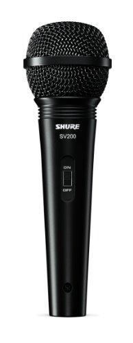 """Shure SV200-W Microfono vocale dinamico cardioide multiuso con griglia a sfera resistente alle ammaccature, interruttore on/off e cavo da 15\' XLR-a 1/4\"""""""