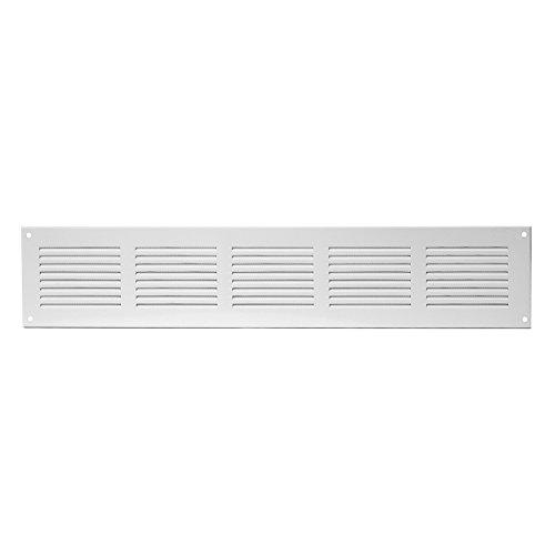 400x150mm Weiß Lüftungsgitter Abschlussgitter Insektenschutz Abluft Zuluft Metall Gitter