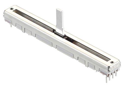 ALPS 10K Log. Schiebepoti RS6011DP Stereo Schiebeweg 60 mm Super P Fader snap in Schiebepotentiometer Potentiometer Poti