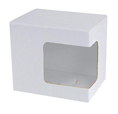 Box Weiss MIT ECK-SICHTFENSTER FÃœR Tasse cod.EL27110 cm 11,5x8,5x10,2h by Varotto & Co.