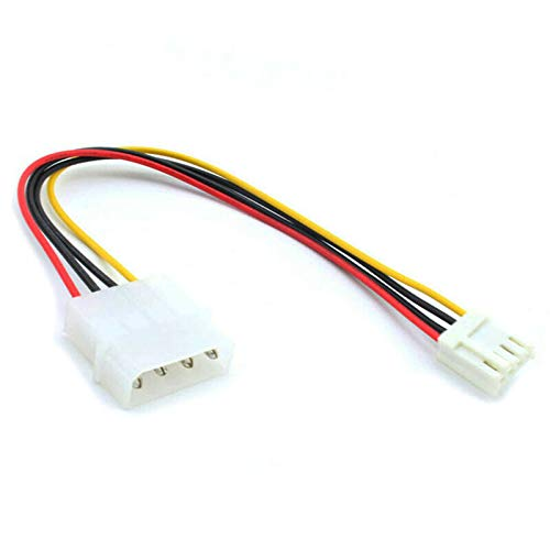 4-pin Molex Male (LP4) to 4-pin Floppy FDD Female (SP4) Power Adapter Cable