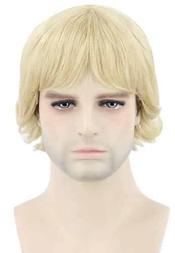 Topcosplay Men's Wigs for Steve Irwin Crocodile Hunter Wig Blonde Short Halloween Character Costume Party Wig