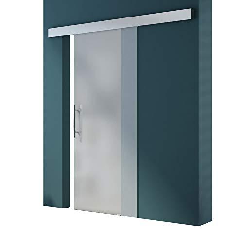 Glasschiebetür Amalfi TS14-1025 vollflächig Satiniert, Griffart: Stangengriff, BxH: 102,5x205cm