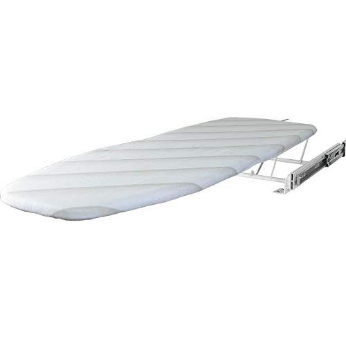 MYHO 折りたたみ式アイロン台 カバー 棚への引き込み式 内蔵スイベルアイロンボード 引き出しアイロンボード キッチンの戸棚引き出しクローゼット鉄ボード鋼