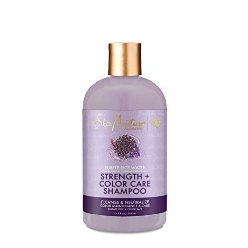 SheaMoisture Purple Rice Water Strength + Color Care Shampoo for Damaged Hair 13 oz for Damaged Hair 13 oz