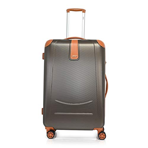 Bontour Elegance - Maleta rígida con candado TSA, maleta de viaje con ruedas dobles