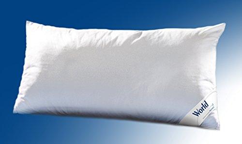 WALBURGA Kopfkissen, Kissen World Dacron® Comforel® Soft Faserbällchen weichungesteppt 40 x 80 cm