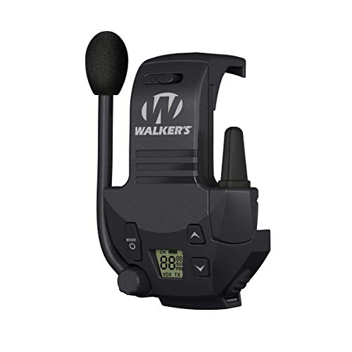 Walker's Razor Walkie Talkie Handsfree Communication up to 3 Miles , Black