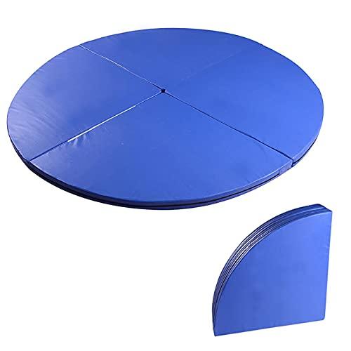 Pole Dancing Crash Mat, Gymnastic Yoga Fitness Mat Shock Absorption Safety Crash Mat, Folding Round Dance Padded Mat, for Stripper Thickened Protection Mat, Sponge Filling,Blue,160cm*10cm