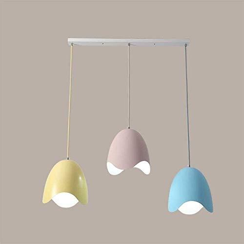 HMKJ LED Color Decoración Cabezas Triple Lámpara de techo Postmoderno Café Sala de estar Mesa de comedor Luces Colgante Luces Creative Bar Dormitorio Iluminación Lámpara de araña araña de la oficina
