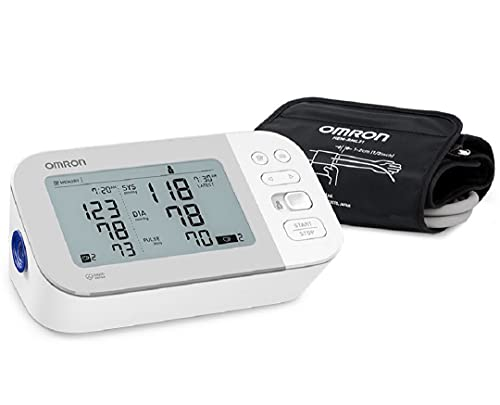 OMRON Gold Blood Pressure Monitor, Premium Upper Arm Cuff, Digital Bluetooth Blood Pressure Machine, Stores Up To 120 Readings for Two Users (60 readings each)