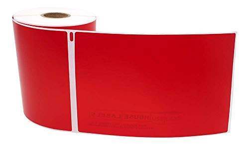"""Compatible with DYMO 1744907 4XL RED - 1 Roll; 220 Labels per Roll of Multipurpose High Visibility Labels (4"""" x 6"""") 4x6- BPA Free! Ships Fast!"""