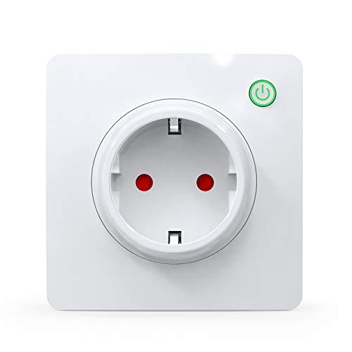 WLAN Smart Steckdose, Alexa Steckdose 16A, Smart Wandsteckdose misst den Stromverbrauch, mit Fernsteuerung und Sprachsteuerung, Funktionieren mit Alexa, Google Home (1)