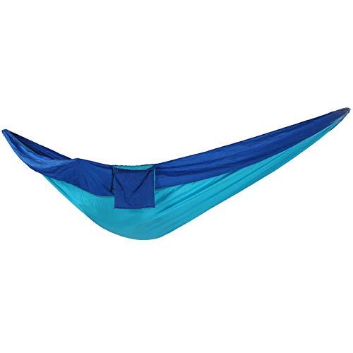 Asixxsix Hamaca para 2 Personas, Costura Azul 300 kg Capacidad de Carga Hamaca para Acampar, Acampada para Picnic Interior al Aire Libre