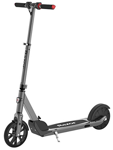 """Razor E Prime Adult Electric Scooter - Up to 15 mph, 8"""" Airless Flat-free Tires, Rear Wheel Drive, 250W Brushless Hub Motor, Lightweight Aluminum Frame, Anti-Rattle System, Foldable"""